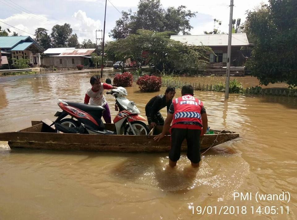 Dari lokasi banjir PMI Kabupaten Bulungan melaporkan hasil assesment bencana banjir di Kecamatan Pal - (Ada 0 foto)