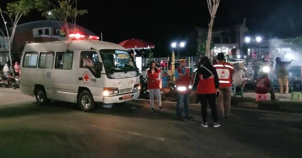 Giat PMI Kota Tarakan pada selasa, 21 Agustus 2018, menjadi tim medis pawai takbir keliling menyambu - (Ada 0 foto)